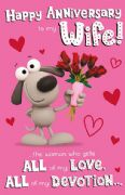 Wife All My Love Wedding Anniversary Card